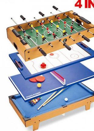 Настільна гра 4 в 1 футбол,хокей,теніс,більярд