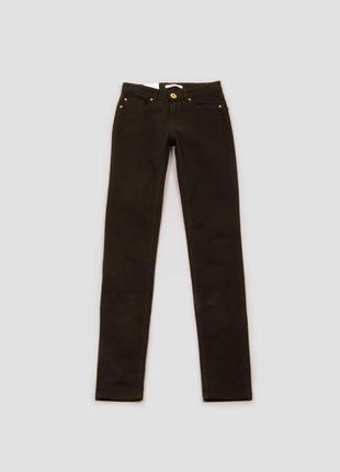 Брюки джинсы зелёные со средней посадкой и карманами camaieu