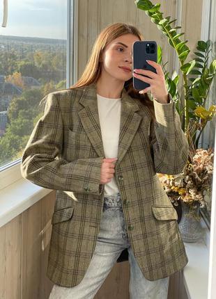 Идеальный шерстяной пиджак с мужского плеча 1+1=3