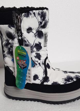 Термо обувь b&g r191-1220w для девочки 33, 34, 35р