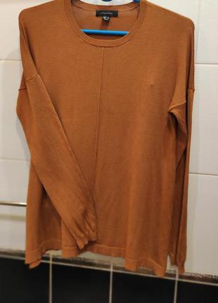 Тонкий вискозный женский свитер atmosphere горчичного цвета р.52/ uk16