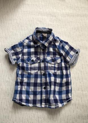 Тенниска- рубашка на мальчика 18-24 мес