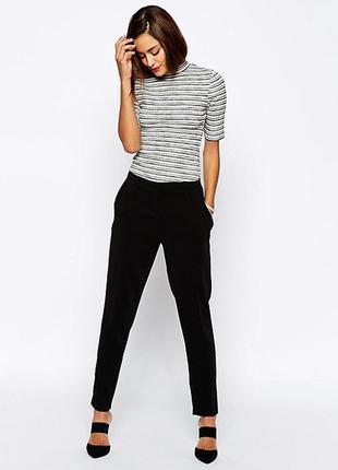 Штаны базовые классические укороченные брюки h&m