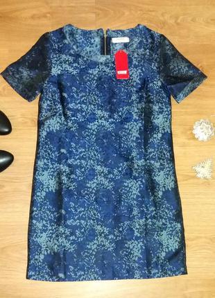 Симпатичное платье springfield прямого покроя размер 36