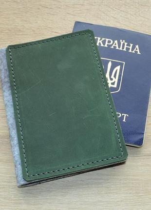 Акція!обкладинка на паспорт з натуральної шкіри, hand made;обложка