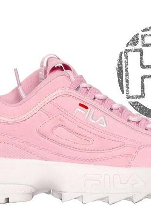Женские кроссовки fila disruptor ii 2 suede pink Fila 53b78667ea5cc