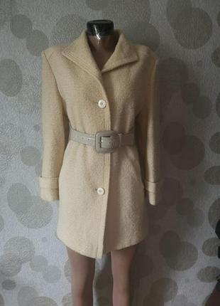 Шерстяной жакет пальто из шерсти букле