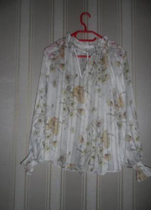 Блуза длинный рукав размер 38 // м h&m