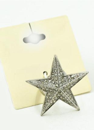 Стильное кольцо звезда - тренд
