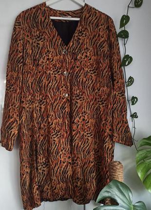 Hamells удлиненная блуза пиджак с разрезами винтаж батал