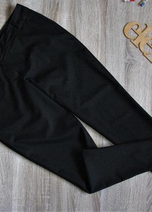 Черные зауженные брюки eur 38