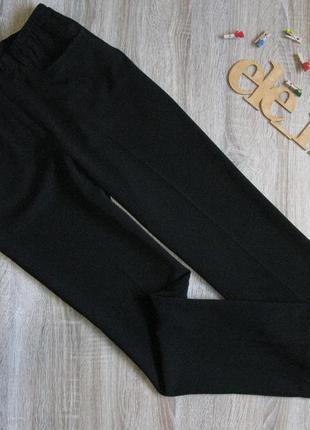 Черные офисные брюки прямой крой eur 38