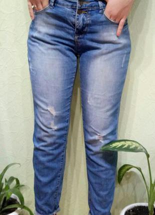 Прикольные джинсики на размер 38- 40