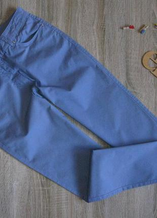 Классные голубые брючки стрейч коттон eur 38