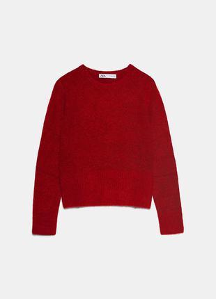 Новий.светр бренду zara alpaca wool burgundy sweater оригінал