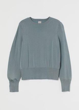 Новий з нової колекції.светер бренду h&m fine-knit sweater turquoise color оригінал