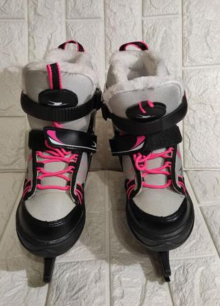 Детские коньки ледовые thinsulate (hy skate junior amaze xs vi).  размер 33-36.