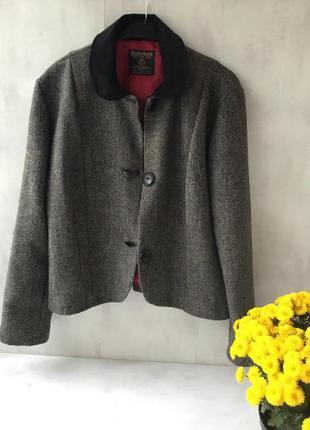 Harris tweed твидовый пиджак жакет