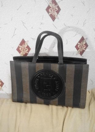 Номерная кожаная сумка  fendi