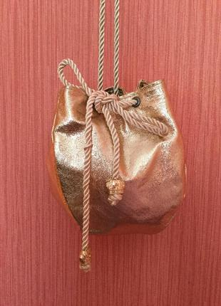 🌸⚜️золотая сумочка zara⚜️🌸
