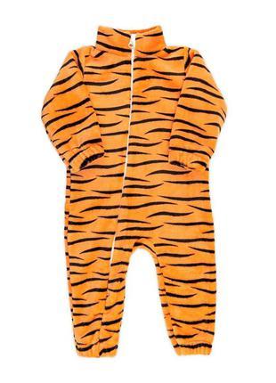 Теплый комбинезон для малышей, тигр