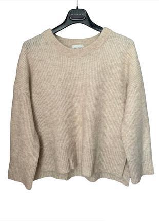 Second female свитер серый шерсть оверсайз