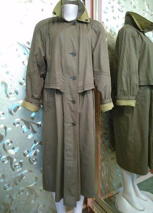 Пальто goldix оливкового цвета на синтепоне  пог-56 см.