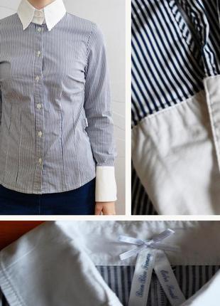 Изысканная рубашка bien bleu femme в полоску размер xs/s