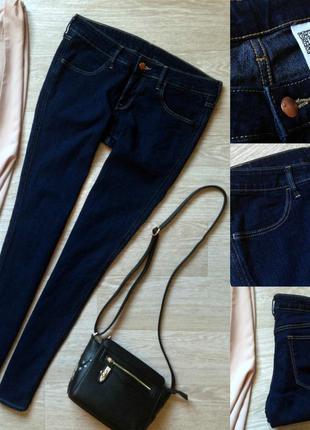 #95 плотные синие джинсы скинни h&m