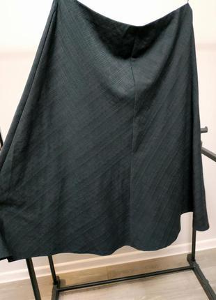 Классическая юбка а силуэта черная офисная marks & spencer
