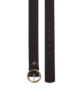 Ремінь жіночий коричневий женский кожаный ремень.