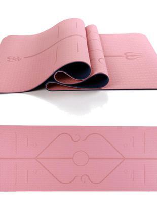 Фитнес коврик для йоги пилатеса лфк
