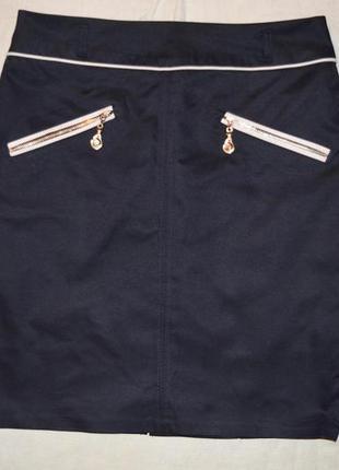 Спідниця темно-синя dimols, діловий стиль
