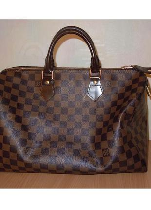 a29bb608ddff Сумка бочонок louis vuitton speedy damier ebene 35 оригинал Louis ...