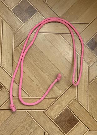 Скакалка для художественной гимнастики 230 см розовая