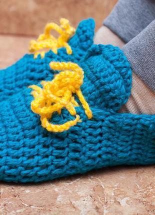 Носки кеды тапки вязаные герб