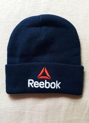 Reebok шапка спортивная темно-синяя новая кепка панама snapback бейсболка теплая