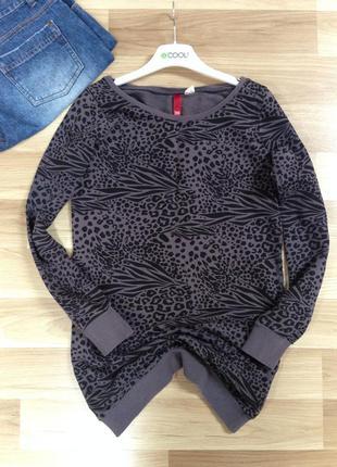 Свитшот, худи, реглан, джемпер, пуловер леопардовый принт