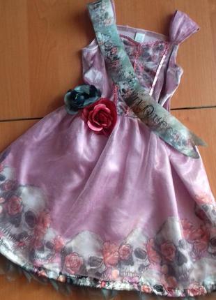Карнавальный костюм, платье на хэллоуин miss zombi prom queen на 5-6 лет.