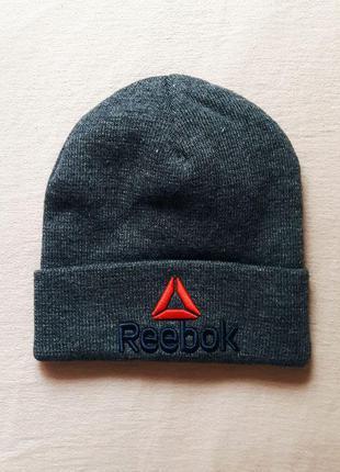 Reebok шапка спортивная серая новая кепка панама snapback бейсболка теплая зима