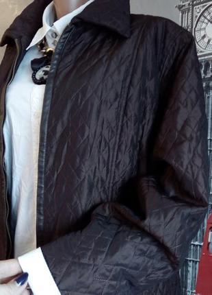 Шоколадна стегана куртка на блискавці, великий розмір