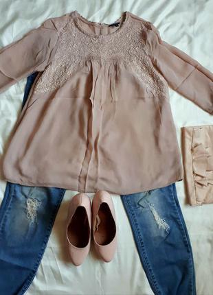 Бежевая блуза lindex
