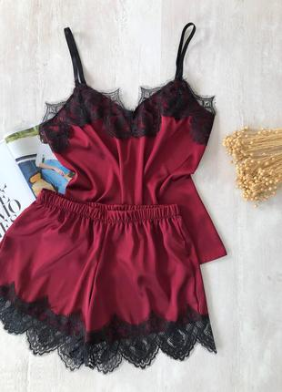 Пижама майка и шорты шеок армани