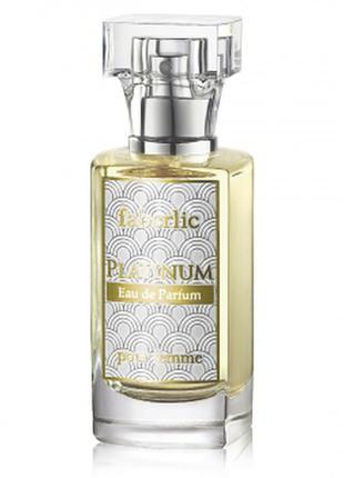 Парфюмерная вода для женщин platinum  faberlic + подарунок