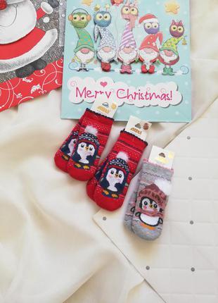 Носочки носки для девочки для мальчика махра теплые