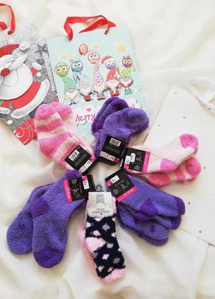 Носочки теплые пушистые носки для девочки