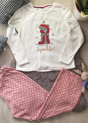 Флисовая пижама мишка тедди