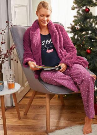 Шикарная пижама тройка, плюшевый халат, s, m, l, esmara, германия