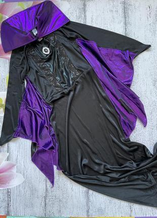 Крутой карнавальный костюм платье дракула вампир летуньях мышь ведьма disney 9-10 лет