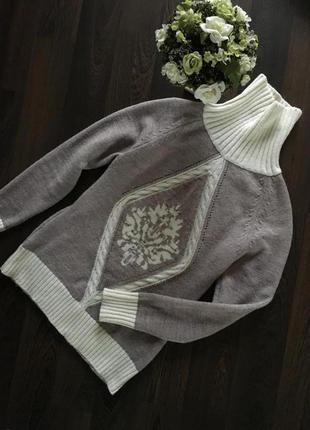 Очень теплый свитер гольф реглан кофта блуза